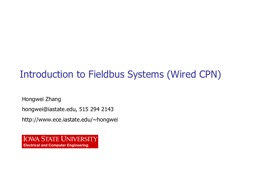 Introduction to Fieldbus Systems (Wired CPN)