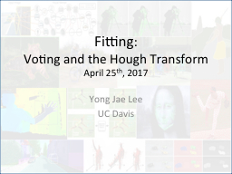 Fitting :  Voting and the Hough Transform