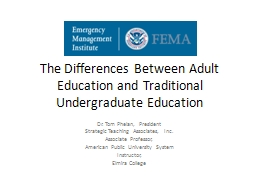 The  Differences Between Adult Education