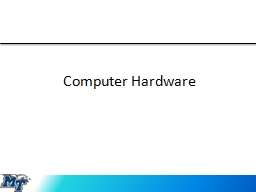 Computer Hardware Input Devices PowerPoint PPT Presentation