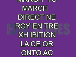 oneofakind  APPLICATION SPRING  APPLICATION MARCH  TO MARCH   DIRECT NE RGY EN TRE XH IBITION LA CE OR ONTO AC CEPTANCE CR IT ER IA Y OU T BE TH E IG NER