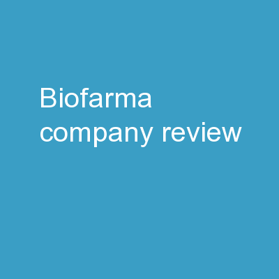 Biofarma .  Company review