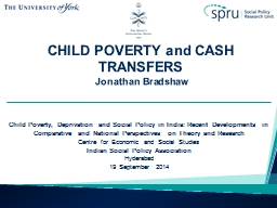 CHILD  POVERTY and CASH TRANSFERS