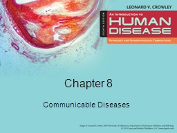 Chapter 8 Communicable Diseases
