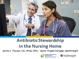 Antibiotic Stewardship  in the Nursing Home