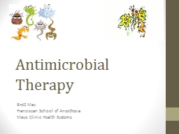 Antimicrobial Therapy Brett May