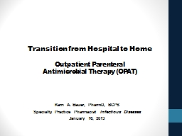 Transition from Hospital to Home