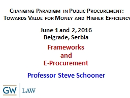 Changing Paradigm in Public Procurement