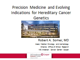 Precision Medicine and Evolving Indications for Hereditary Cancer Genetics