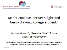 Attentional bias between light and heavy drinking college students
