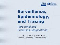 Surveillance, Epidemiology, and Tracing PowerPoint Presentation, PPT - DocSlides