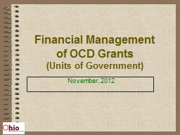 Financial Management of OCD Grants PowerPoint PPT Presentation
