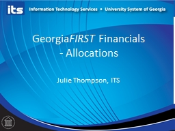 Georgia FIRST  Financials
