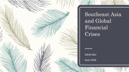 Southeast Asia and Global Financial Crises