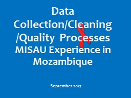 September  2017 Data Collection/Cleaning/Quality Processes