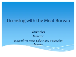 Licensing with the Meat Bureau