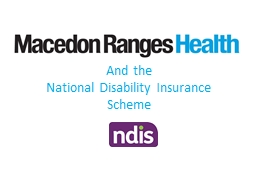 And the  National Disability Insurance Scheme