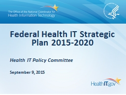 Health IT Policy Committee