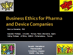 Business Ethics for  Pharma