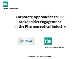 Corporate Approaches to CSR Stakeholder Engagement