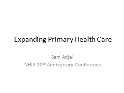 Expanding Primary Health Care