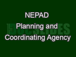 NEPAD Planning and Coordinating Agency