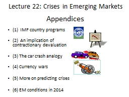 Appendices (1)  IMF country programs