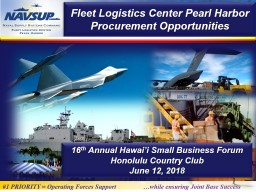 Fleet Logistics Center Pearl Harbor