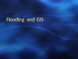 Flooding and GIS Hydrosphere