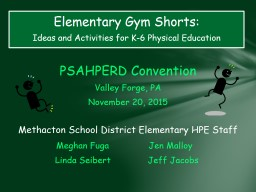 PSAHPERD  Convention Valley Forge, PA