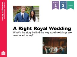 A Right Royal Wedding What's