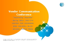 Vendor Communication     Conference PowerPoint PPT Presentation