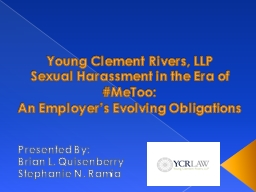 Young Clement Rivers, LLP