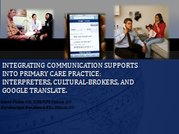 Integrating communication supports into primary care practice: interpreters, cultural-brokers, and