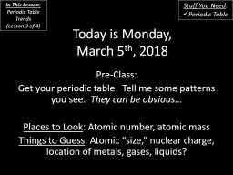 Today is Monday, March 5