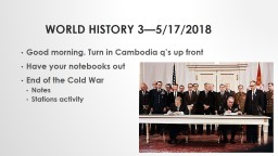 World history 3—5/17/2018 PowerPoint PPT Presentation