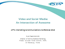 Video and Social Media: