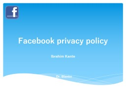 Facebook privacy policy Ibrahim Kante