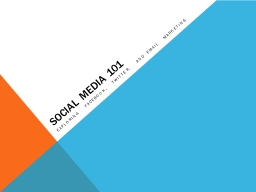 Social Media 101 Exploring Facebook, Twitter, and Email Marketing