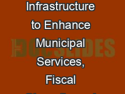 Leveraging Broadband Infrastructure to Enhance Municipal Services, Fiscal Strength, and Community V