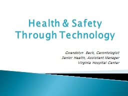 Health & Safety Through Technology