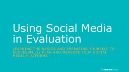 Using Social Media in Evaluation PowerPoint PPT Presentation