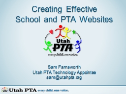 Creating Effective School and PTA Websites