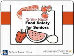 Food Safety for Older Adults