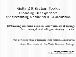 GIST making informed decisions and workflow of buying, borrowing, downloading or viewing… easier.