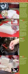 Step  Remove Fresh Mozzarella curd from refrigerator o
