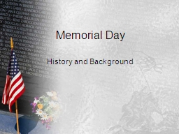 Memorial Day History and Background