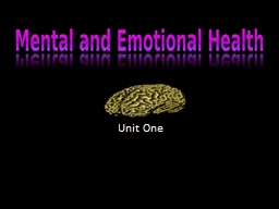 Unit One Aromatherapy- Items will be set up around the room.