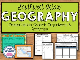 GEOGRAPHY Presentation, Graphic Organizers, & Activities