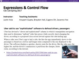 Expressions & Control Flow